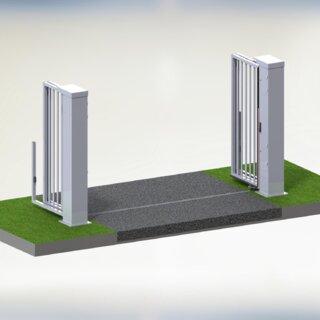 Speedgate Ondergeleiding 3D open